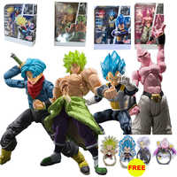14-22cm Dragon Ball Super SHF Trunks Vegeta Broly Buu Action Figure Dragon Ball Goku Broly Figurines PVC Collection Model Toys