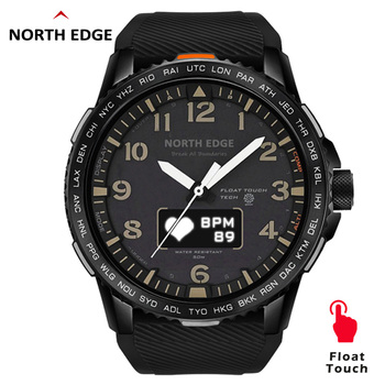 north edge smart watch women men smartwatch for android ios electronics smart clock fitness tracker heart rate smart watch hour NORTH EDGE Smart Digital Sport Watch Women Men Heart Rate Monitoring Waterproof Tracker Fitness Men's Smartwatch For Android IOS