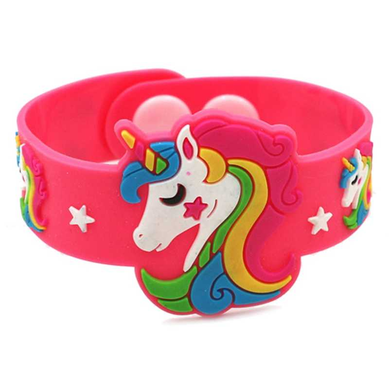 1PCS Trendy Children Lovely Animal Unicorn Silicone Wristbands Rubber Bracelets Toys For Kids Boys Girls Adults Christmas Gifts