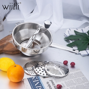 Image 4 - Wiilii Stainless Steel Potato Masher Good Grips Food Mill Cookware For Mashing Straining Grating Fruits Vegetables Mashed Potato