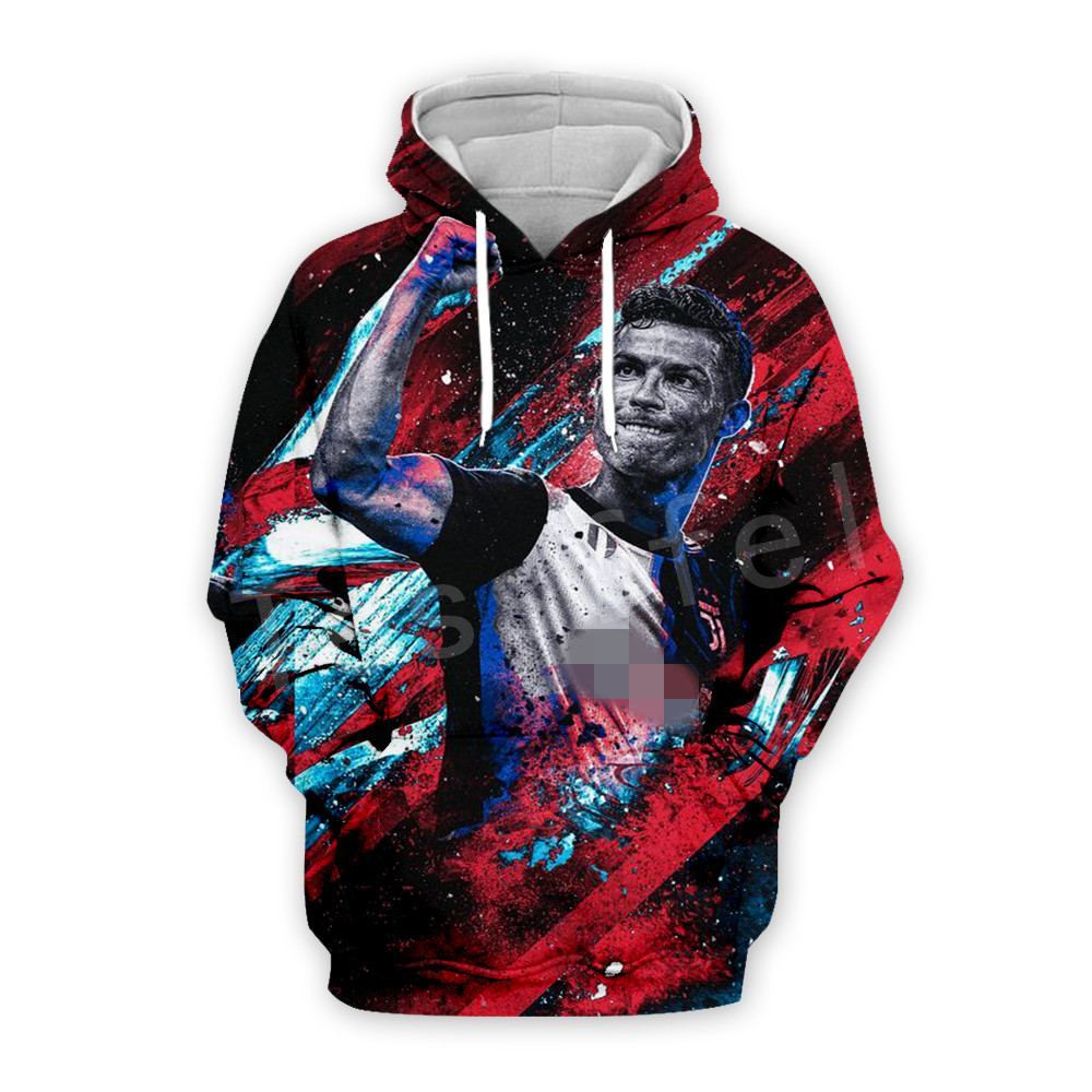 Tessffel Cristiano Ronaldo Athletes Fitness Tracksuit New Fashion 3D full Print Zipper/Hoodie/Sweatshirt/Jacket/Mens Womens s-11