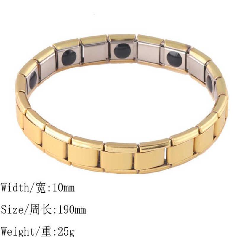 Moda męska biżuteria uzdrowienie FIR magnetyczny tytan Bio bransoletka energetyczna dla mężczyzn ciśnienie krwi akcesoria człowiek bransoletka biżuteria prezent