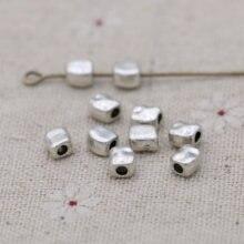 Prata chapeado irregular solto espaçador contas para fazer jóias pulseira diy artesanato descobertas 5mm 40 pçs/lote