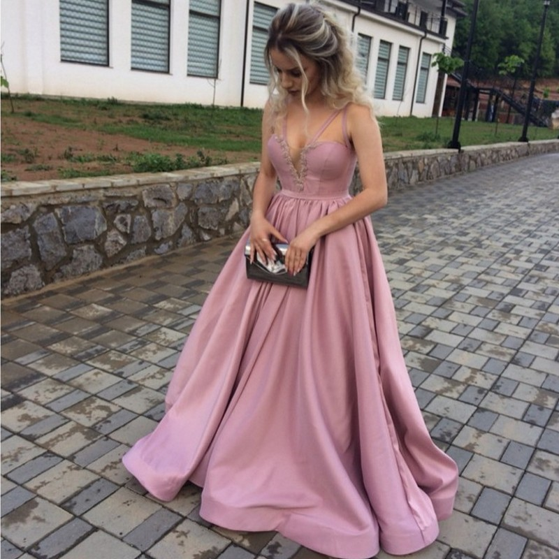 Sexy Plus Size Pink African Prom Evening Dresses Gown 2019 Long Party Gala Dress