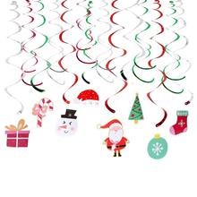 Christmas Hanging Foil Swirl Snowman Tree Decoration Santa Claus Xmas Crafts Decor Gift