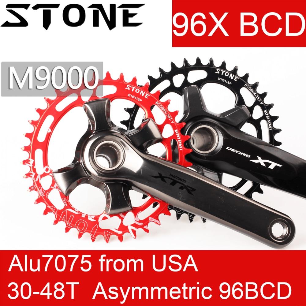 Deckas BCD96 32//34//36//38T Round//Oval Disc MTB Bike Chainring For XTR//M8000//M9000