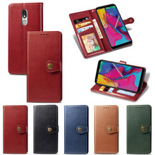 Coque K40 K50 Stylo5 Fashion Simple Couple Flip Wallet Leather Case For LG W10 W30 Pro Card Cover Protection Etui
