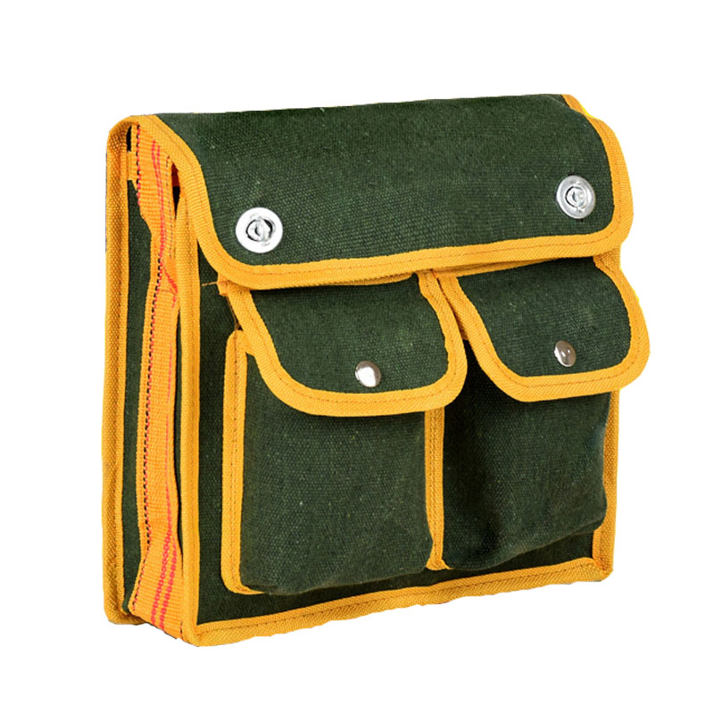 Multi-function Service Tool Bag Shoulder Canvas Electrician Tool Bag Practical Large Water Electricity Hardware Tool Storage Bag
