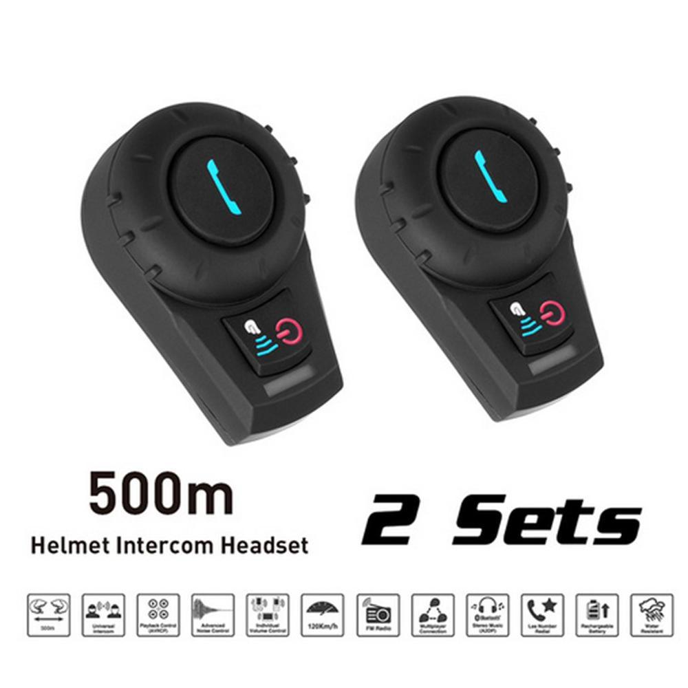 Motorcycle Helmet Walkie Talkie Headset Helmet Wireless Headset Headphones Helmet Walkie Talkie System 500M