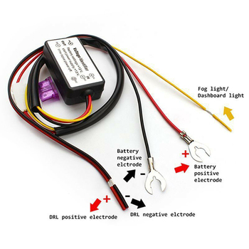 HOT Car LED Daytime Running Light Automatic ON/OFF Controller Module DRL Relay Kits
