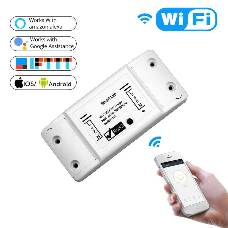 Interruptor inteligente DIY inalámbrico RF Control remoto hogar automatización luz inteligente hogar relé módulo controlador trabajo con Alexa Homekit UE/WiFi inteligente pared luz Dimmer interruptor regulador de vida inteligente/Tuya Control remoto APP funciona con Alexa de Amazon y Google