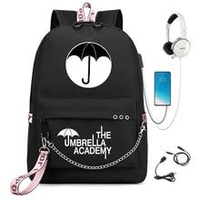 The Umbrella Academy Teenage Girls Boys Backpack Students School Bags Pattern Children's Schoolbag Mochilas Usb Charging Bookbag