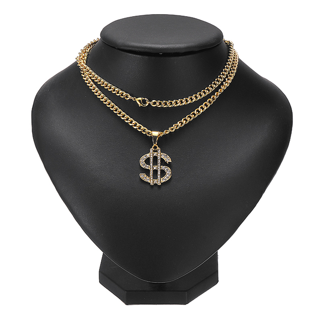 US Dollar Money Sign Pendant Necklaces 6