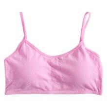 Прочный мягкий хлопок Бюстгальтер для молодых девушек, подростковое дышащее нижнее белье, детская ткань D08C