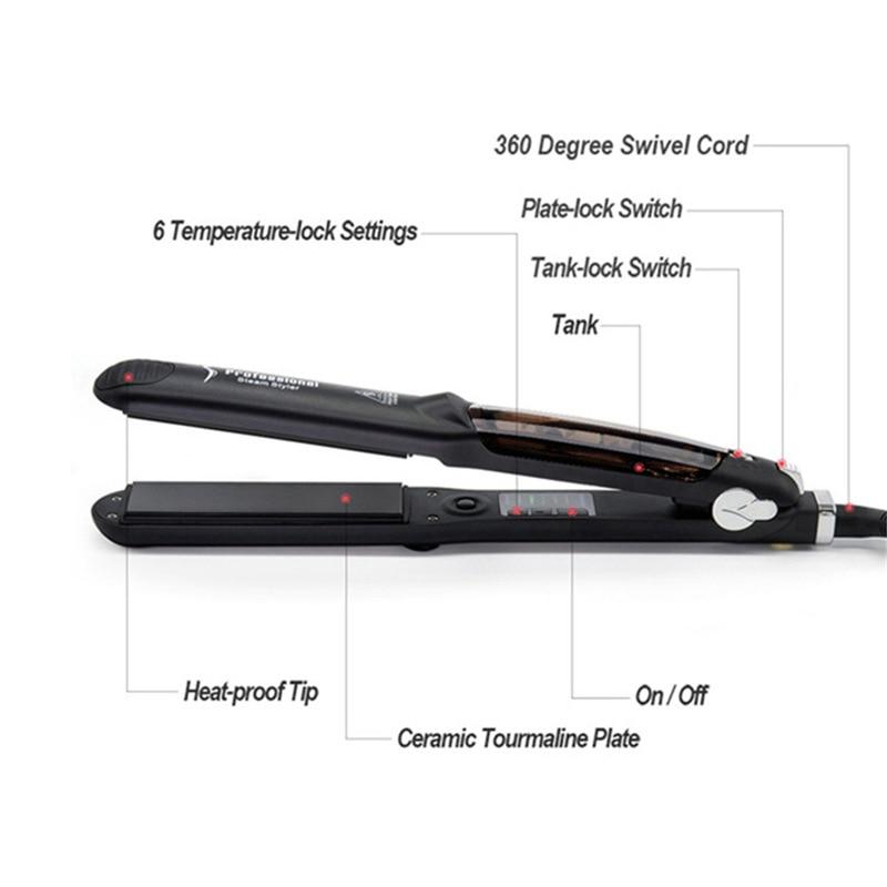 Profesional cabeleireiro vapor styler dois em um