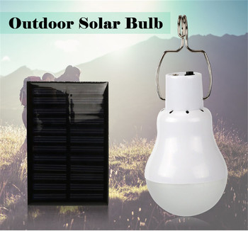 Portable Solar Light 15W 130LM Powered Energy Lamp Power Led Emergency Bulb Outdoor Beach Garden Replacement