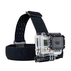 Image 1 - Pour Go Pro montage ceinture réglable sangle de tête bande Session pour Gopro Hero 6/5/4/3 SJCAM Xiaomi Yi 4k Action caméra accessoires