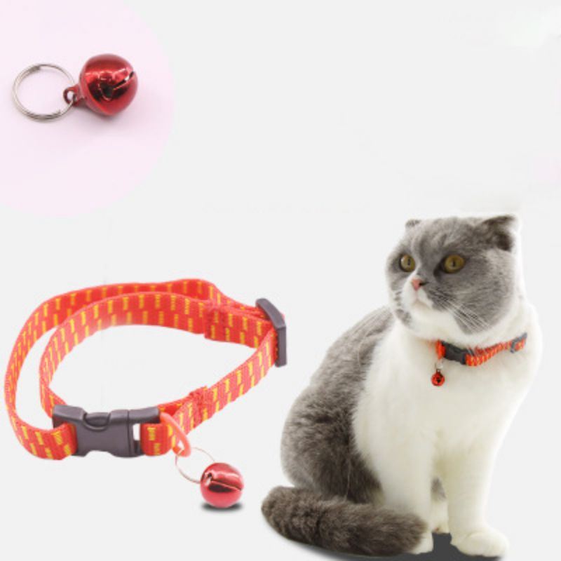 Practical Cat Collar Bell Small Dog Puppy kitten Strap Necklace Flea Collar With Bell Cats Collar for pets Supplies