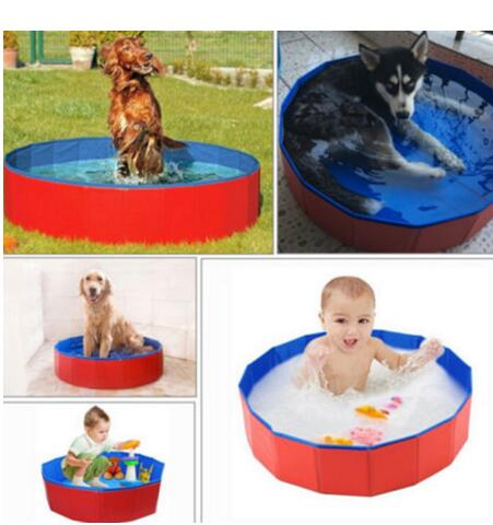 30x10cm Dog Pool Cat Puppy Pet Outdoor Portable Foldable PVC Bathtub Baby Dog Cat Pet Swimming Pool Supplies