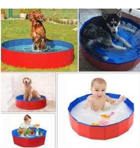 Bathtub Swimming-Pool-Supplies Dog-Pool Foldable Outdoor Baby 30x10cm Puppy Pet Cat PVC