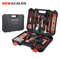 Набор ручных инструментов NEWACALOX 110 шт., цифровой тестовый карандаш с пластиковым ящиком для инструментов, чехол для хранения, набор ручных ин...