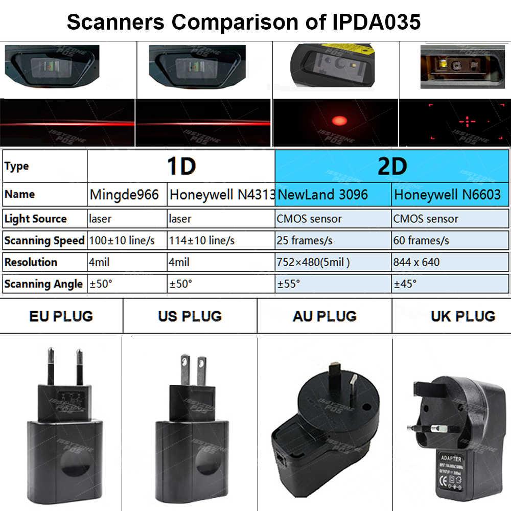 IssyzonePOSมือถือPDAที่ทนทานAndroid 8.1 POS Terminal 1D 2D Barcodeสแกนเนอร์WiFi 4G GPS PDAบาร์รหัสreader