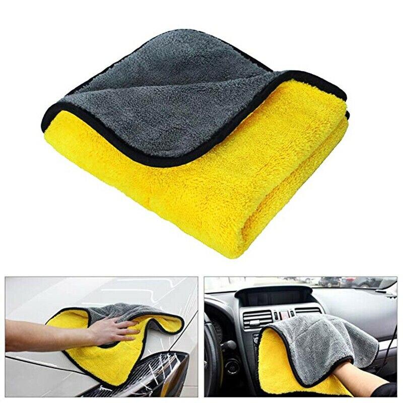 Lavagem de carro microfibra toalha de limpeza automática pano de secagem hemming super absorvente