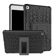 цена на Defender Stand TPU PC Shockproof Protective Silicone Plastic Armor iPad mini 5 4 Case For iPad 2019 A2133 A2124 A2125 A2126