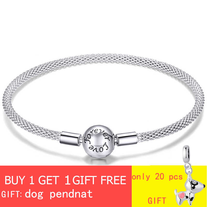 fit original Pandora beads pendant making woman authentic 100% 925 sterling silver charm bracelet Snake bracelet jewelry