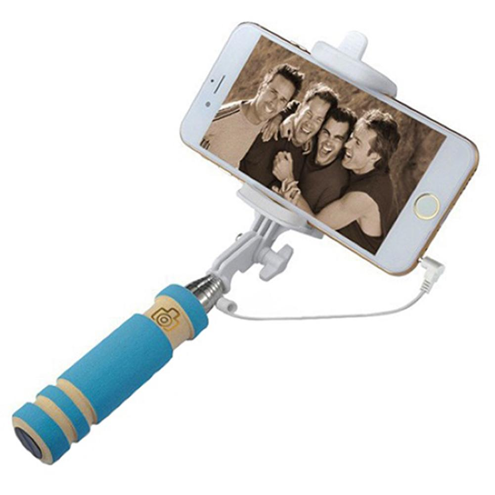 Mini Handheld Wired Remote Phone Selfie Monopod Extendable Stick For Android IOS
