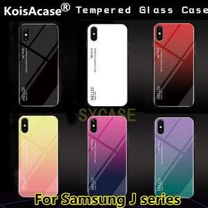 Чехол из закаленного стекла с градиентом KoisAcase для Samsung J2 J5 J7 J8 J4 J6 Plus Prime 2015 2016 2017 2018 J3 Procase Aurora, задняя крышка