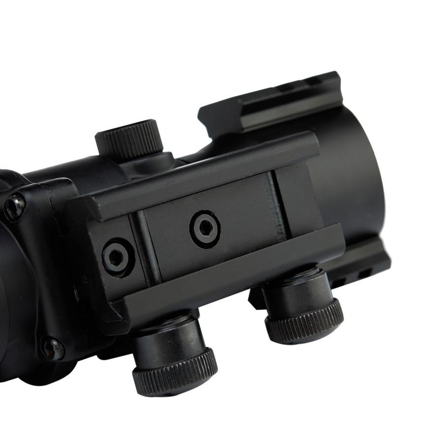 fibra óptica vermelha para a caça arma rifle airsoft sniper lupa