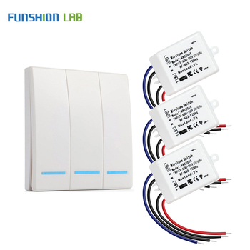 433Mhz RF Wireless Remote Control Switch AC 110V 220V Corridor Room Home Wall Panel Switch Lamp Light LED Bulb Wireless Switches new ac 220v 1 ch channels manual on off wireless remote control switch lamp light switch