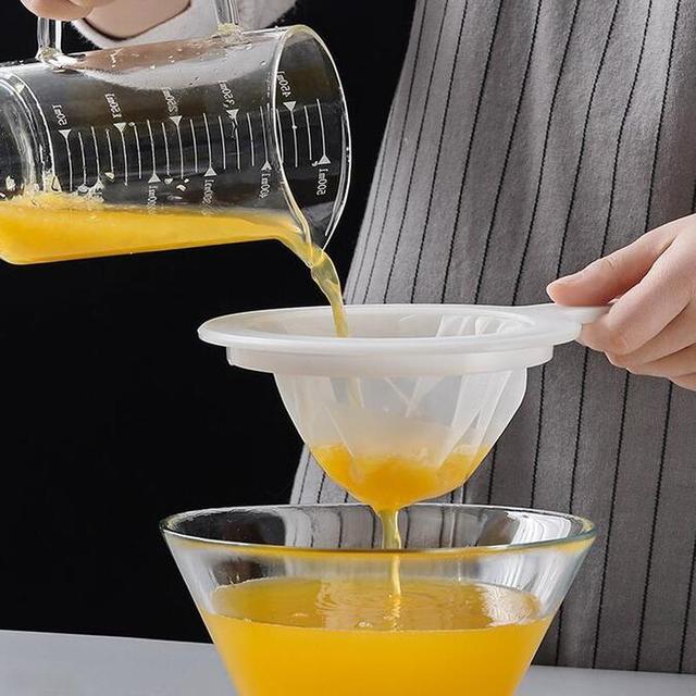 Reusable Nylon Super Fine Colander Sieve 100 20 400 mesh Strainer Colander with Handle for Honey Juice Tea Soymilk Coffee Filter