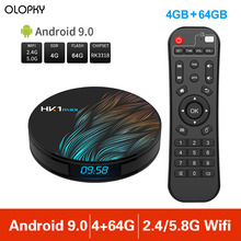 цена на New 4G 64G Smart TV Box HK1MAX Android 9.0 2.4G/5G Wifi BT 4.0 RK Quad Core 4K 1080P Full HD HK1 Max Set-Top Box Media Player