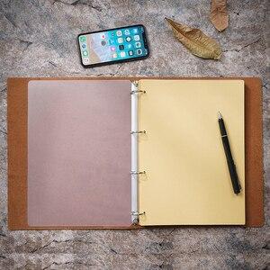 Image 2 - Yeni gelenler klasik iş not defteri A4 hakiki deri kılıf gevşek yaprak defter günlüğü seyahat dergisi Sketchbook planlayıcısı