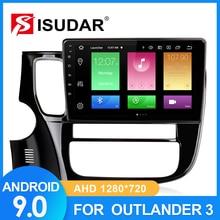 Isudar車ラジオ三菱/アウトランダー3 2012 2018 2 dinアンドロイド9 autoradioマルチメディアgps dvrカメラram 2ギガバイトrom 32ギガバイトのusb