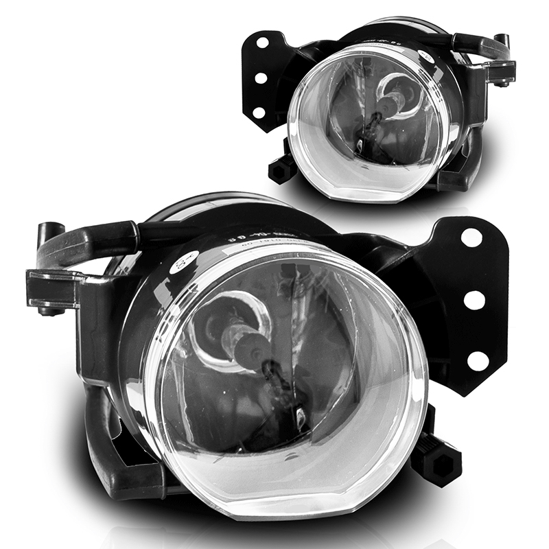 Car Front Fog Lights fog Lamps Housing Lens Clear For BMW E60 E90 E63 E46 323i 325i 525i X3 image