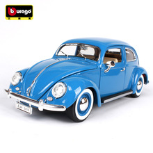 Boy Toy Die-Casting-Model Beetle Bburago Collection Gift 1:18 1955 Car-Alloy