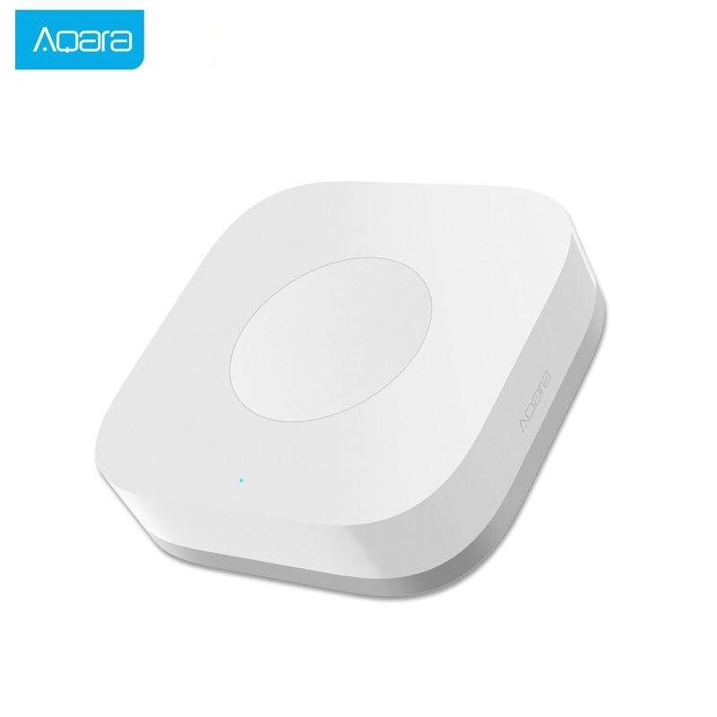 Умный беспроводной коммутатор Aqara, 1 клавиша, пульт дистанционного управления ZigBee, Wi-Fi подключение для приложения Mi Home