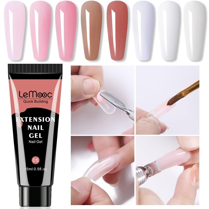 УФ-гель LEMOOC для наращивания ногтей, раствор для лака, жидкость для ногтей, удаление замачиванием, акриловые лаки