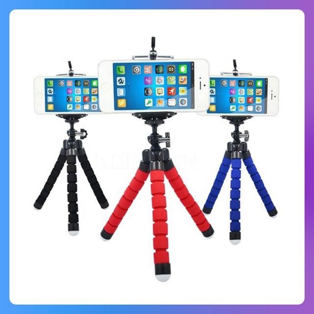 KOMERY Mini Flexible Sponge Octopus Tripod For iPhone Xiaomi Huawei Smartphone Tripod for Gopro Camera With Phone Clip Holder