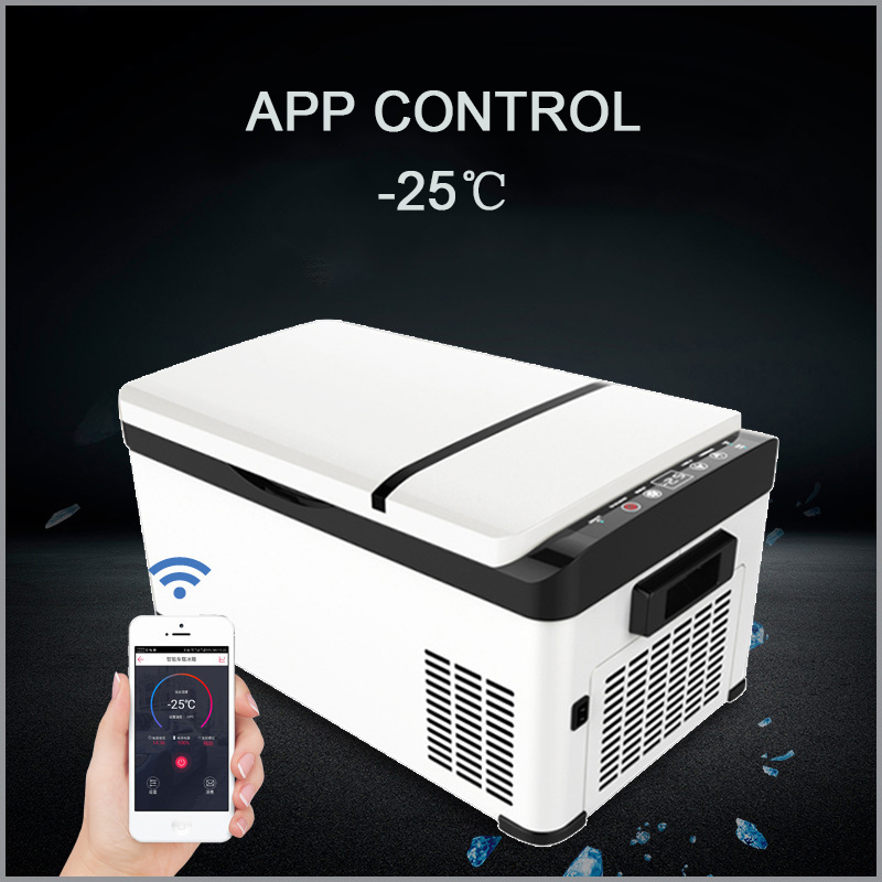 30L Car Refrigerator Frozen Compressor Refrigeration Car Home Dual-use Dc 12/24V Small Portable Fridge Freezer Travel Cooler Box