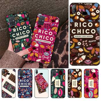 Sweet chocolate Rico Chico Cover Shell Phone Case For Samsung Galaxy A01 A11 A31 A81 A10 A20 A30 A40 A50 A70 A80 A71 A91 A51 image
