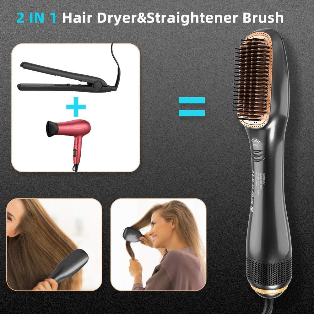 um passo ceramica secador de cabelo alisador escova 04