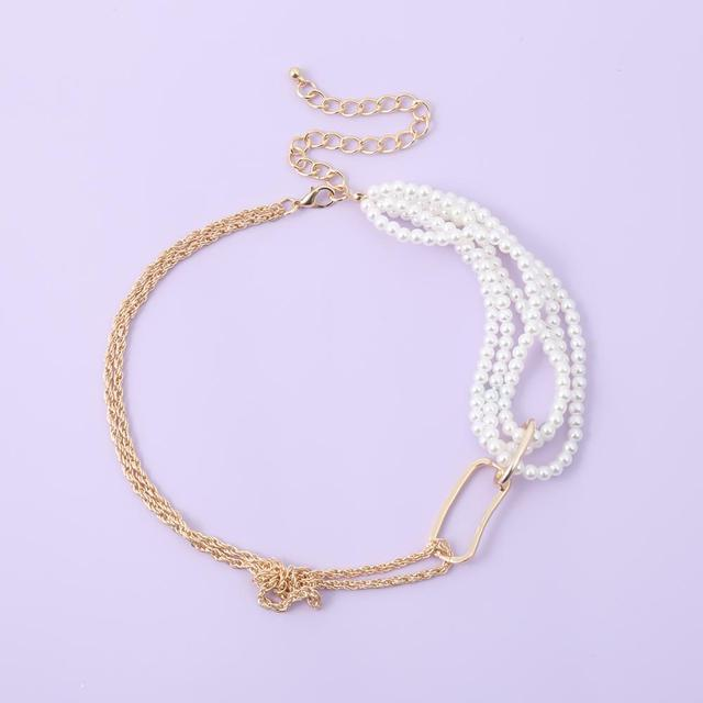 Very Unique pearl and chain wrap necklace 3