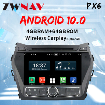 4+64Gb PX4 DSP IPS android 10 Car radio multimedia player for Hyundai IX45 Santa fe Car GPS navigation autoradio stereo DVD image