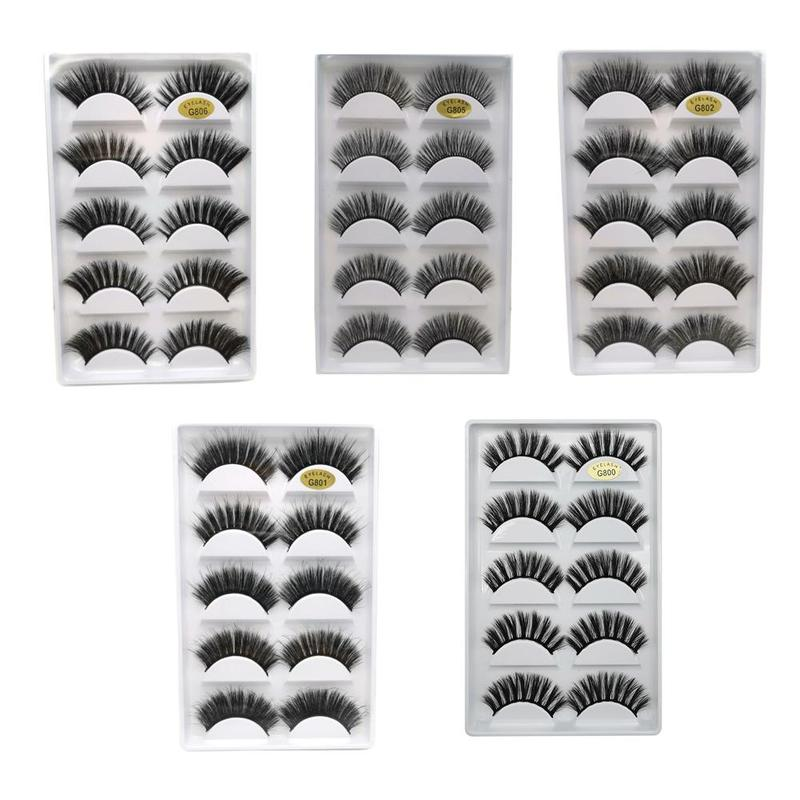 5 Pairs Eye Lashes Hand Made Natural Fake Eyelashes 3d Mink Lashes Soft Dramatic Eye Lashes For Makeup Cilios Mink Maquiagem