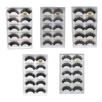 5 Pairs Eye Lashes Hand Made Natural fake eyelashes 3d Mink Lashes Soft Dramatic Eye Lashes For Makeup Cilios Mink Maquiagem