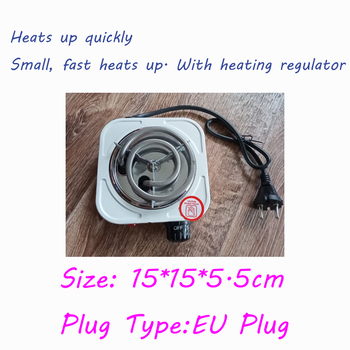 220V 500W Electric Stove Hot Plate Iron Burner Home Kitchen Cooker Coffee Heater Household Cooking Appliances EU Plug 1